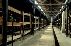Auschwitz, Poland: Prisoner Barracks Stock Photos