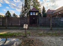AUSCHWITZ, POLAND - SEPTEMBER 2, 2017. Nazi concentration camp Auschwitz I, Auschwitz, Poland. Nazi concentration camp Auschwitz I, Auschwitz, Poland Stock Photo