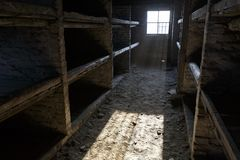 Auschwitz, Polen royalty-vrije stock afbeelding