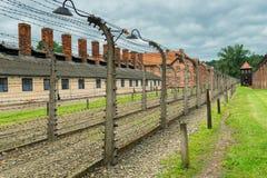 Auschwitz, Polen - 12. August 2017: historischer tragischer Platz in Auschwitz-Konzentrationslager Lizenzfreies Stockfoto