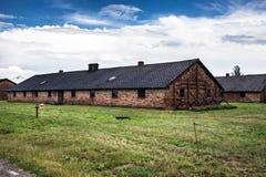 AUSCHWITZ POLEN - Juli 11, 2017 Del av Auschwitz Concentratio Royaltyfria Foton