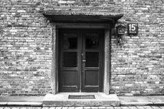 AUSCHWITZ POLEN - Juli 11, 2017 Del av Auschwitz Concentratio Fotografering för Bildbyråer