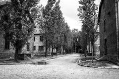 AUSCHWITZ POLEN - Juli 11, 2017 Del av Auschwitz Concentratio Arkivfoto