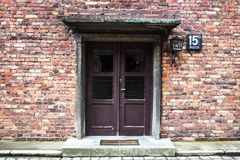 AUSCHWITZ POLEN - Juli 11, 2017 Del av Auschwitz Concentratio Royaltyfri Bild