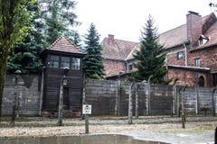 AUSCHWITZ POLEN - Juli 11, 2017 Del av Auschwitz Concentratio Royaltyfri Fotografi
