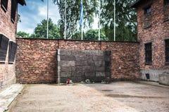 AUSCHWITZ POLEN - Juli 11, 2017 Del av Auschwitz Concentratio Royaltyfria Bilder