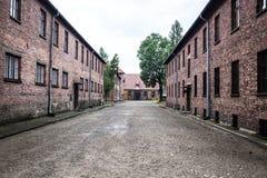 AUSCHWITZ POLEN - Juli 11, 2017 Del av Auschwitz Concentratio Arkivfoton