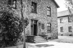 AUSCHWITZ POLEN - Juli 11, 2017 Del av Auschwitz Concentratio Royaltyfri Foto