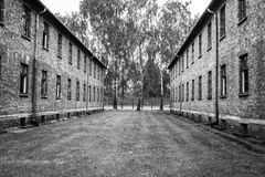 AUSCHWITZ POLEN - Juli 11, 2017 Del av Auschwitz Concentratio Arkivbild