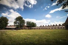 AUSCHWITZ POLEN - Juli 11, 2017; Museum Auschwitz - förintelse Arkivfoton