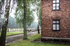 AUSCHWITZ, POLEN - 11. Juli 2017 Teil von Auschwitz Concentratio Lizenzfreie Stockbilder