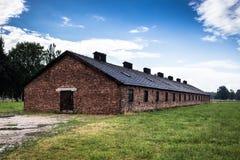 AUSCHWITZ, POLEN - 11. Juli 2017 Teil von Auschwitz Concentratio Stockbild