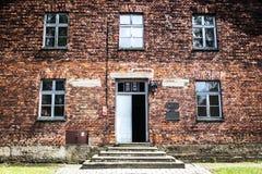 AUSCHWITZ, POLEN - 11. Juli 2017 Teil von Auschwitz Concentratio Stockbilder