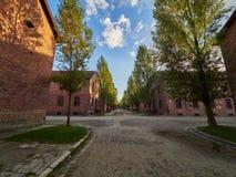 AUSCHWITZ POLEN - SEPTEMBER 2, 2017 Nazistkoncentrationsläger Auschwitz I, Auschwitz, Polen Royaltyfri Fotografi