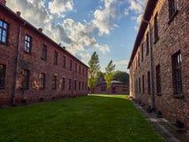 AUSCHWITZ POLEN - SEPTEMBER 2, 2017 Nazistkoncentrationsläger Auschwitz I, Auschwitz, Polen Royaltyfria Bilder