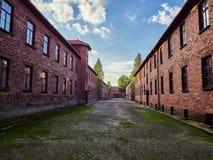 AUSCHWITZ POLEN - SEPTEMBER 2, 2017 Nazistkoncentrationsläger Auschwitz I, Auschwitz, Polen Royaltyfri Foto