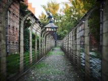 AUSCHWITZ POLEN - SEPTEMBER 2, 2017 Nazistkoncentrationsläger Auschwitz I, Auschwitz, Polen Arkivbilder