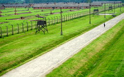 Auschwitz, Pologne : Camp de concentration de Birkenau Photographie stock libre de droits