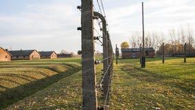 Auschwitz, Pologne Casernes dans le camp de concentration d'Auschwitz II†«Birkenau Image libre de droits