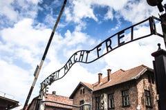AUSCHWITZ, POLOGNE - 11 juillet 2017 ; Musée Auschwitz - holocauste Image libre de droits