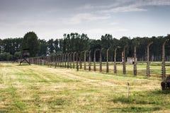 AUSCHWITZ, POLONIA - 11 luglio 2017 Parte del concentrati di Auschwitz Immagine Stock Libera da Diritti
