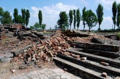 Auschwitz, Polonia: Rovine della camera a gas fotografia stock