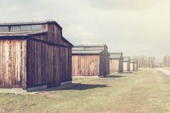 auschwitz, Polska Marzec 12, 2019 koncentracyjnych obozów Śmierć koszaruje Żydowski eksterminacja obóz zdjęcie stock