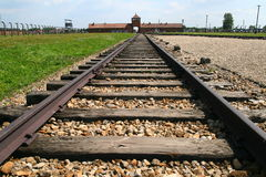 Auschwitz rail tracks Stock Photography