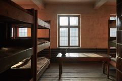 The Auschwitz room. The prisoners room at Auschwitz concentration camp Stock Image