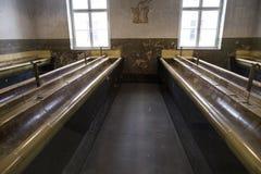 Auschwitz: rummet av washen Fotografering för Bildbyråer