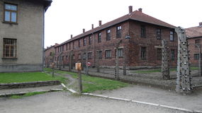 Auschwitz. Scenes from the concentration and extermination camps at Auschwitz in Poland Stock Photos