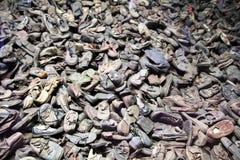 Auschwitz skor Fotografering för Bildbyråer