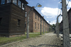 Auschwitz - street. Konzentrationslager Auschwitz was the largest of the German Nazi concentration and extermination camps. Located in southern Poland it took Royalty Free Stock Photography