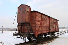 Auschwitz vagn Royaltyfri Fotografi