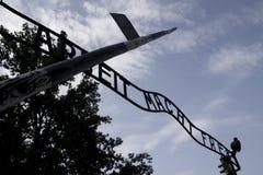 Auschwitz voorpoort royalty-vrije stock afbeeldingen
