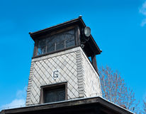 auschwitz wieża obserwacyjna g Zdjęcia Royalty Free