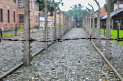 Auschwitz, the worst that ever happened to humanity. The worst that ever happened to humanity stock photography
