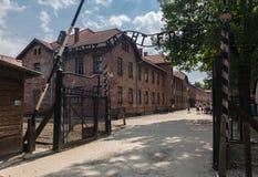 Auschwitzingang Stock Foto's