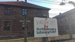 Auschwitzkamp Royalty-vrije Stock Fotografie