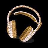 Auscultadores & música Foto de Stock Royalty Free