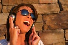 Auscultadores da música Imagens de Stock