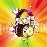 Auscultadores do DJ ilustração stock