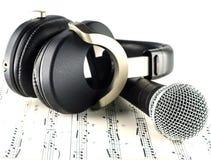Auscultadores e microfone Imagens de Stock