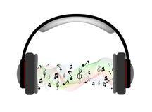 Auscultadores musicais com equalizador ilustração royalty free