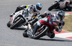 AUSDAUER 24 MOTO-STUNDEN RENNEN-- CATALUNYA Lizenzfreie Stockfotografie