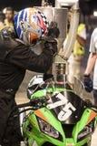 AUSDAUER 24 MOTO-STUNDEN RENNEN-- CATALUNYA Lizenzfreies Stockfoto