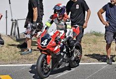 Ausdauer Yamahas YZF R-1-Team Folch Stockbild