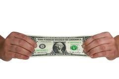 Ausdehnen eines Dollars Stockfoto
