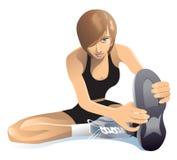 Ausdehnen von Übungen Stockbilder
