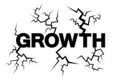 Ausdehnendes instabiles Wachstum führt zu gefährliche Expansion und Zusammenbruch und Einsturz stock abbildung